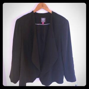 Vince Camuto Draped Black Blazer/Jacket